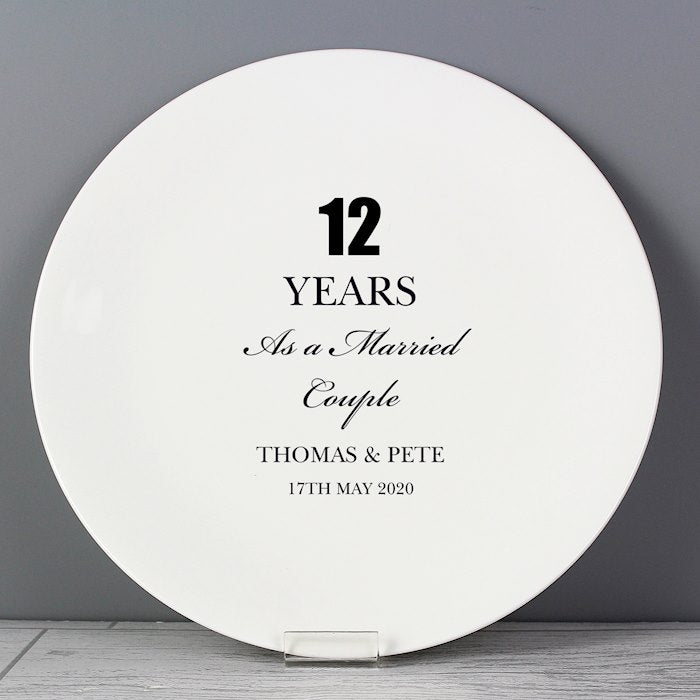 Personalised Anniversary Plate From Pukkagifts.uk