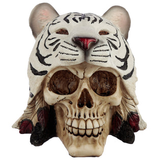White Tiger Headdress Skull Ornament