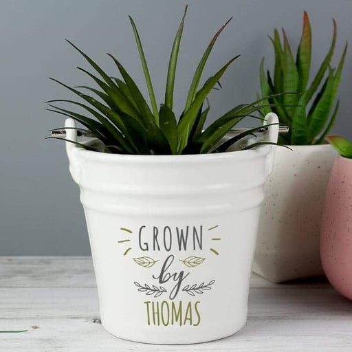 Personalised Grown By Porcelain Planter from Pukkagifts.uk