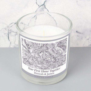 Personalised 1805 - 1874 Old Series Map Compass Scented Jar Candle from Pukkagifts.uk
