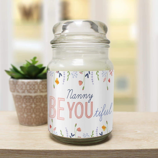 Personalised Be-you-tiful Candle Jar