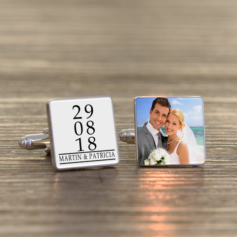 Personalised Special Date Photo Cufflinks from Pukkagifts.uk