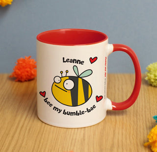 Personalised Flossy and Jim Bee My Bumble-Bae Mug