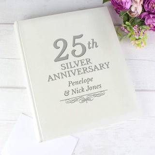 Personalised 25th Silver Anniversary Traditional Photo Album