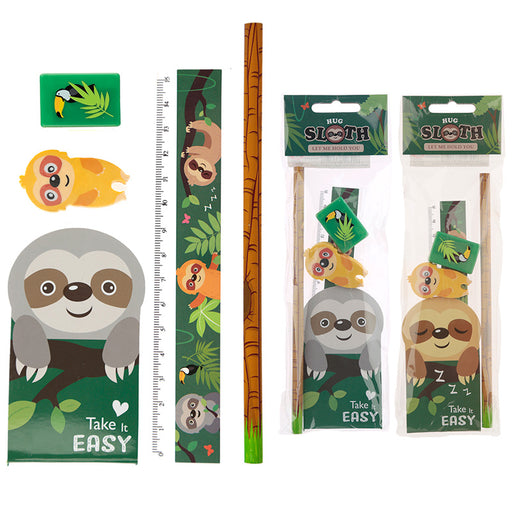 Sloth 5 Piece Stationery Set