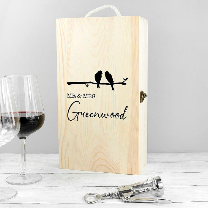 Personalised Couples Double Wine Box - Pukka Gifts