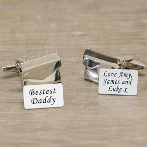 Personalised Envelope Cufflinks With Message Card,Pukka Gifts