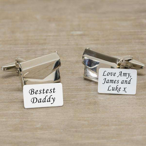 Personalised Envelope Cufflinks With Message Card from Pukkagifts.uk