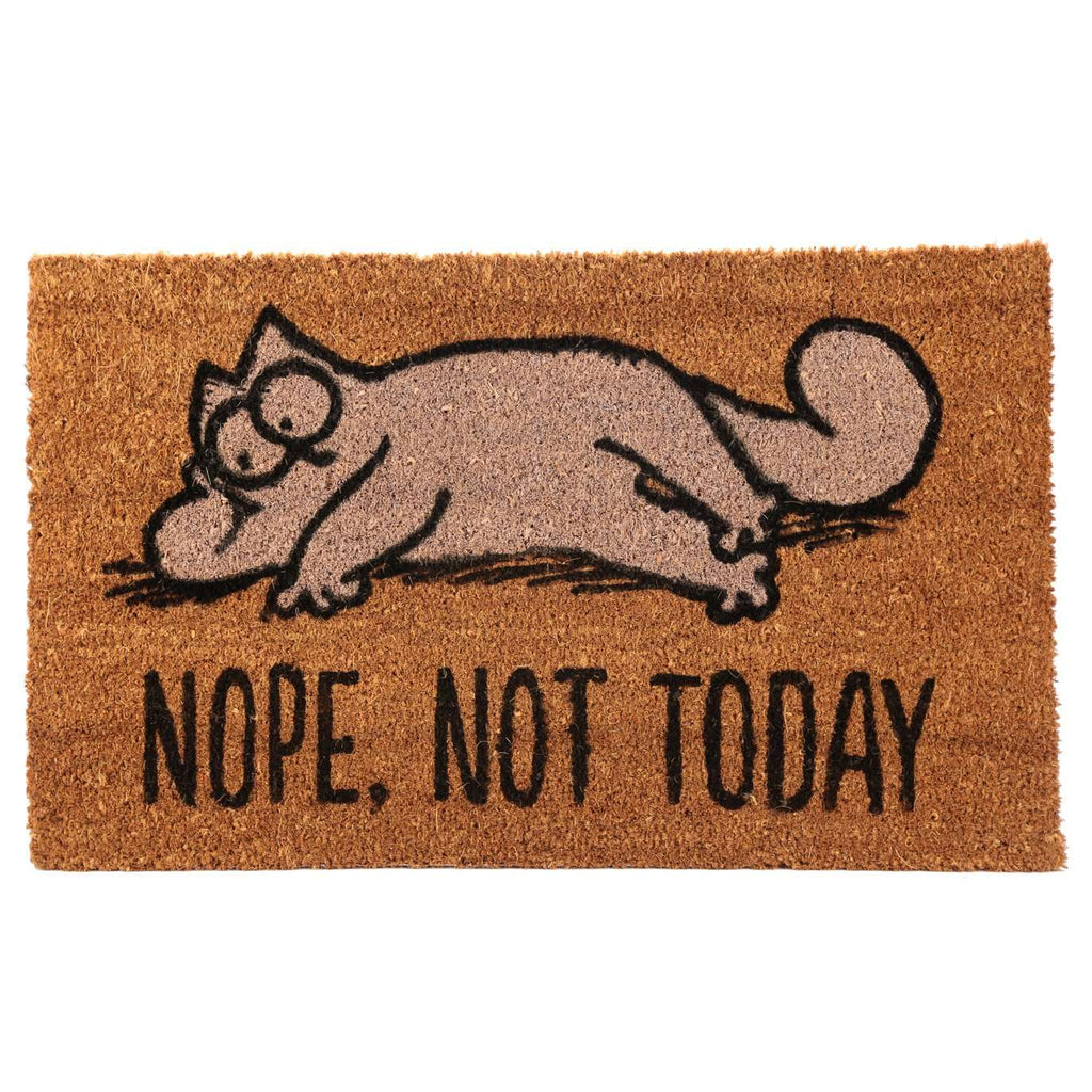 Simon's Cat Coir Doormat - Nope Not Today from Pukkagifts.uk