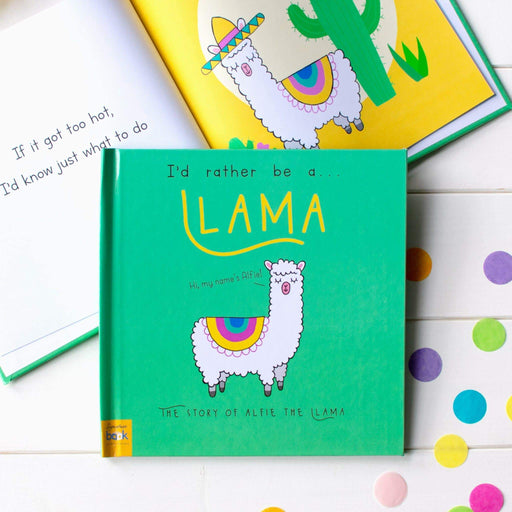 Personalised I'd Rather Be A Llama Story Book