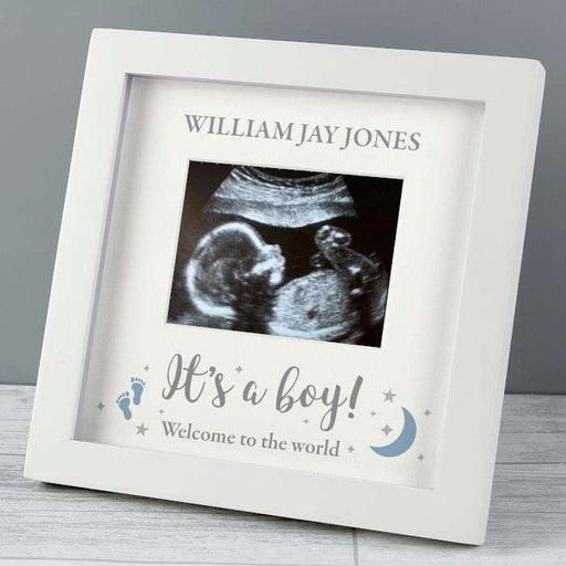 Personalised It's A Boy Baby Scan Photo Frame 4 x 3 from Pukkagifts.uk