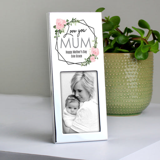 Personalised Abstract Rose Photo Frame 3x2