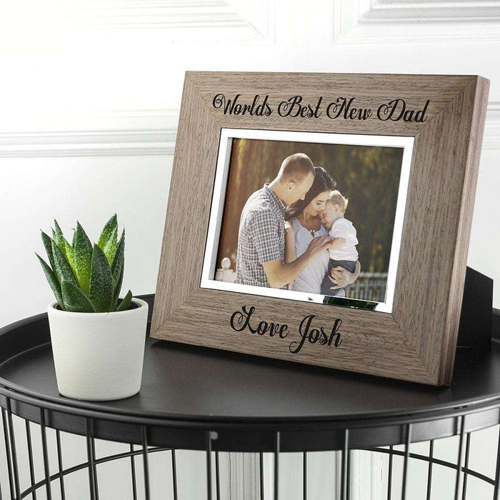 Personalised World's Best New Dad Photo Frame from Pukkagifts.uk