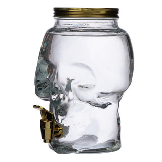 Skull Shaped Water Decanter 2.6L - Skulls & Roses