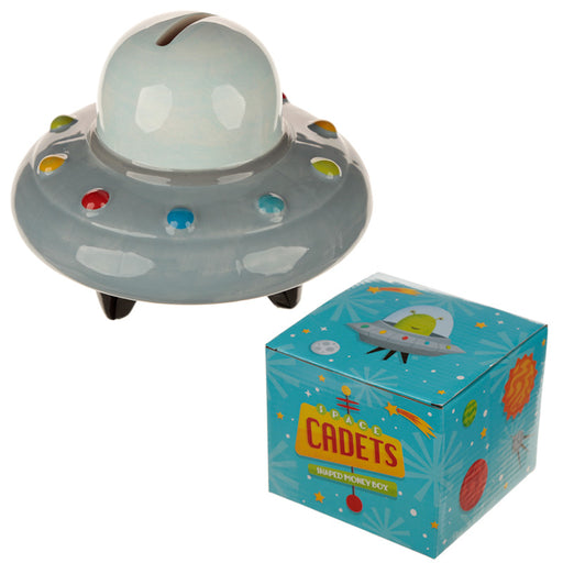 Space Cadet Space Ship Money Box from Pukkagifts.uk