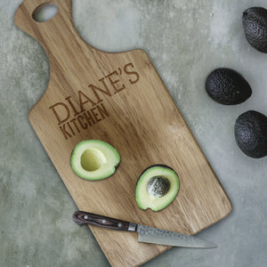 Personalised Paddle Chopping Board