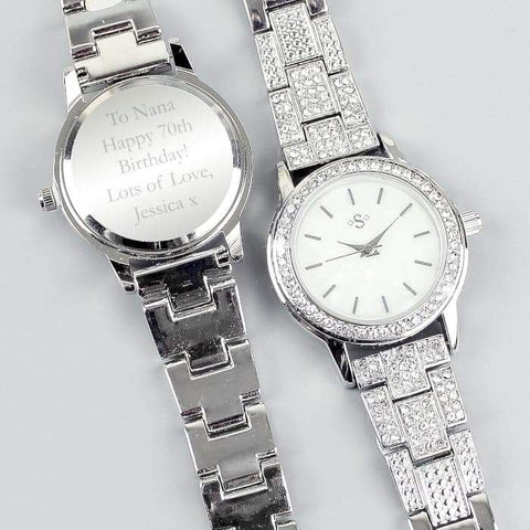 Personalised Diamante Ladies Watch | Gift For Her | Mum | Wife