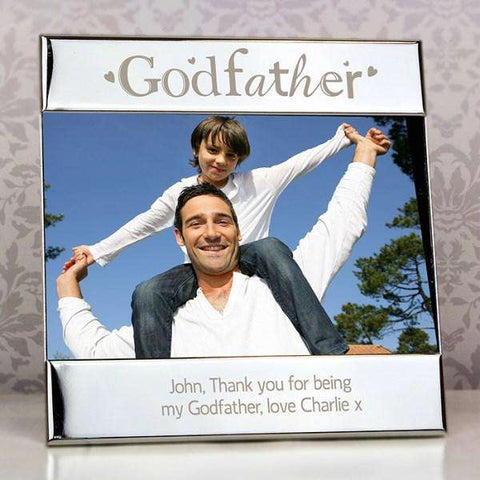 Personalised Silver Godfather Square 6x4 Photo Frame from Pukkagifts.uk