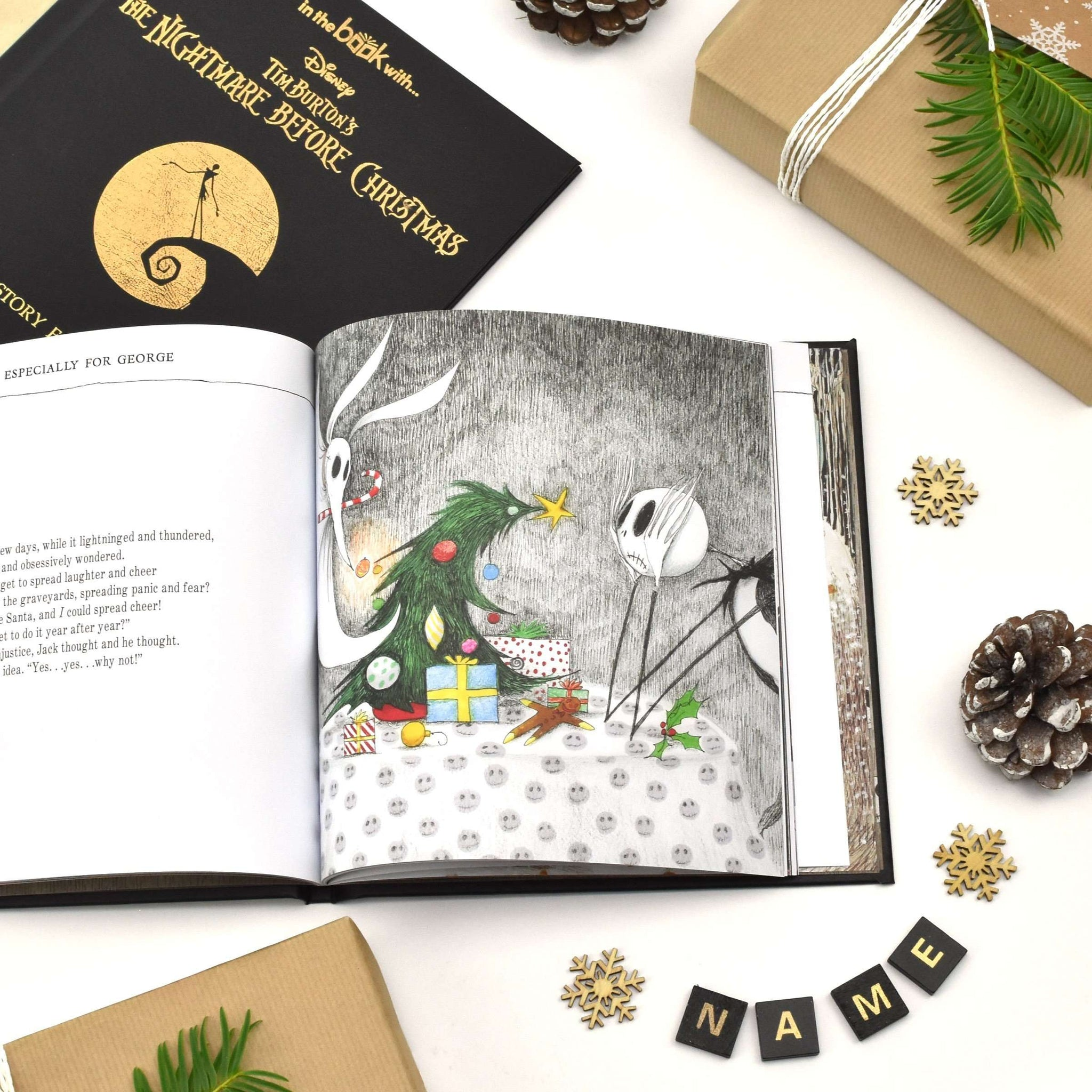 Personalised Nightmare Before Christmas Story Book – Pukka Gifts