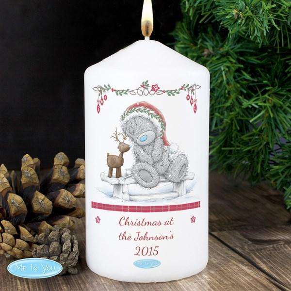 Personalised Me To You Reindeer Candle from Pukkagifts.uk