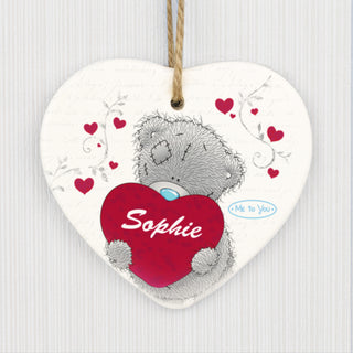 Personalised Me to You Big Heart Ceramic Heart Decoration