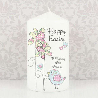 Personalised Daffodil Chick Easter Candle from Pukkagifts.uk