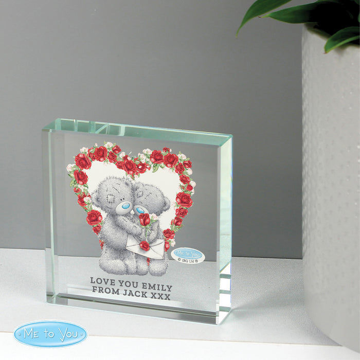 Personalised Me to You Valentine Large Crystal Token