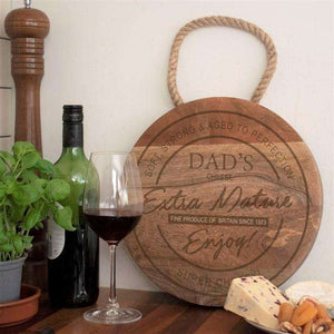Engraved Dad Extra Mature Cheese Board from Pukkagifts.uk