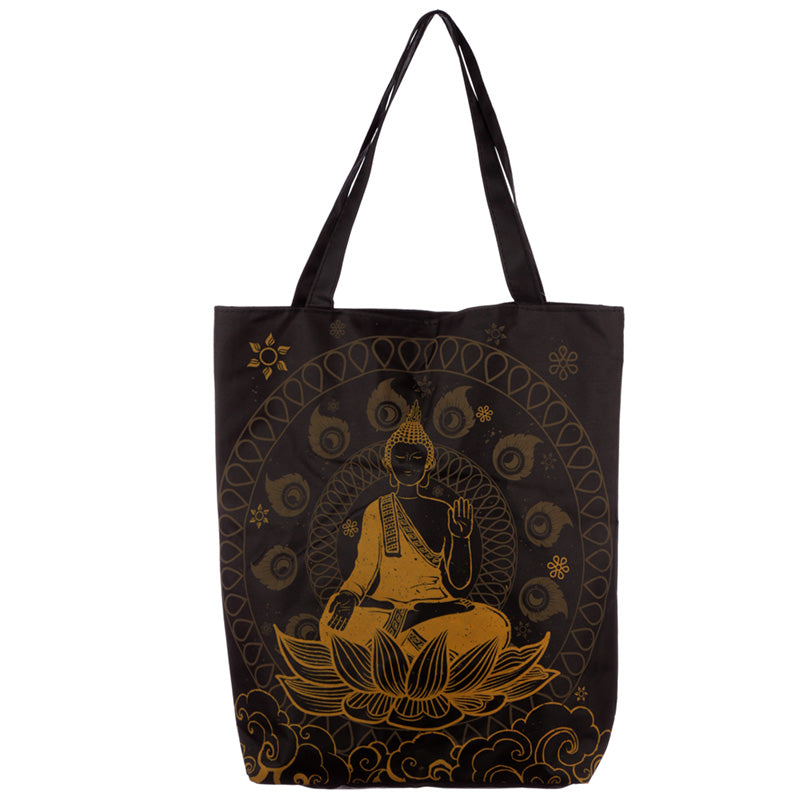 Thai Buddha Cotton Zip Up Shopping Bag from Pukkagifts.uk