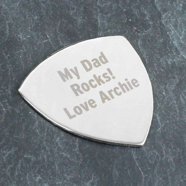 Personalised Silver Plectrum from Pukkagifts.uk