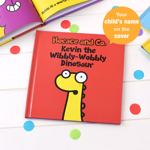 Personalised Flossy and Jim The Wibbly-Wobbly Dinosaur Book from Pukkagifts.uk