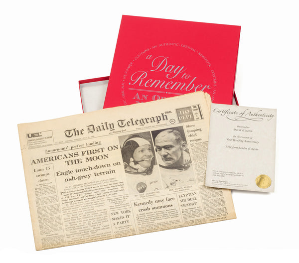 Original Newspaper From A Date Of Your Choice & Gift Box from Pukkagifts.uk