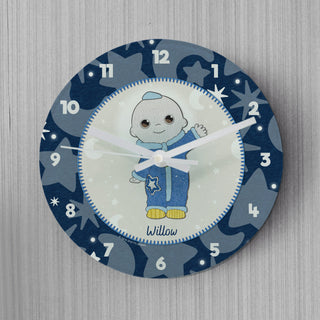Personalised Moon and Me Moon Baby Glass Clock