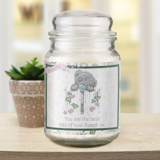Personalised Me To You Secret Garden Candle Jar