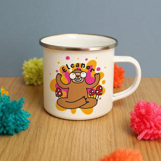 Personalised Groovy Sloth Enamel Mug