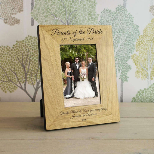 Personalised Parents Of The Bride Photo Frame from Pukkagifts.uk