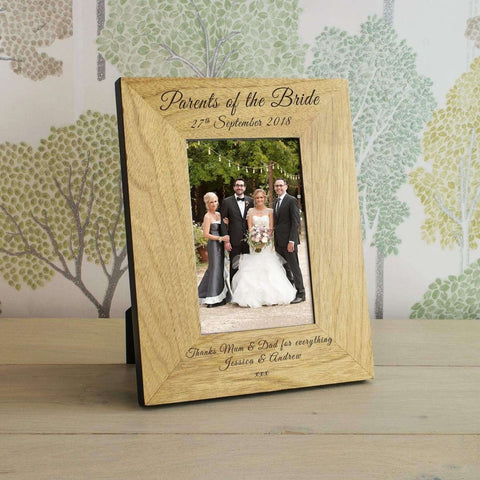 Personalised Parents Of The Bride Photo Frame,Pukka Gifts