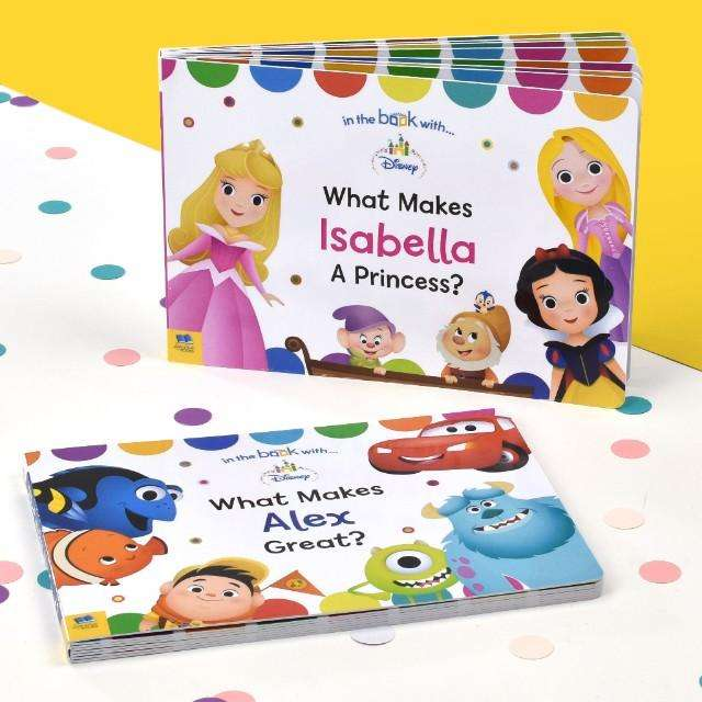 Personalised Disney & Pixar Baby Board Books from Pukkagifts.uk