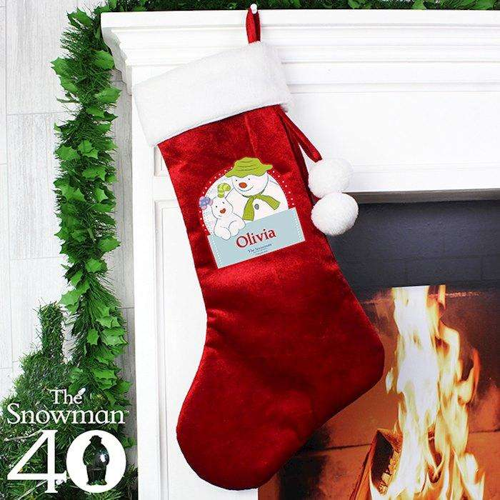 Personalised The Snowman and the Snowdog Luxury Stocking from Pukkagifts.uk