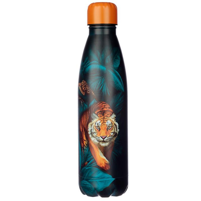 Spots and Stripes Big Cat Reusable Stainless Steel Hot & Cold Thermal Insulated Drinks Bottle 500ml