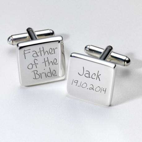 Personalised Father of the Bride Cufflinks from Pukkagifts.uk