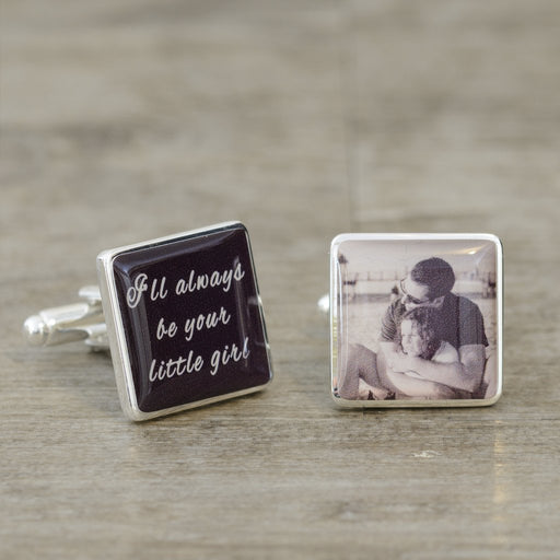 I'll Always Be Your Little Girl Photo Cufflinks from Pukkagifts.uk
