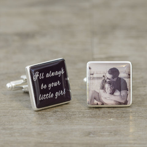 I'll always Be Your Little Girl Photo Cufflinks