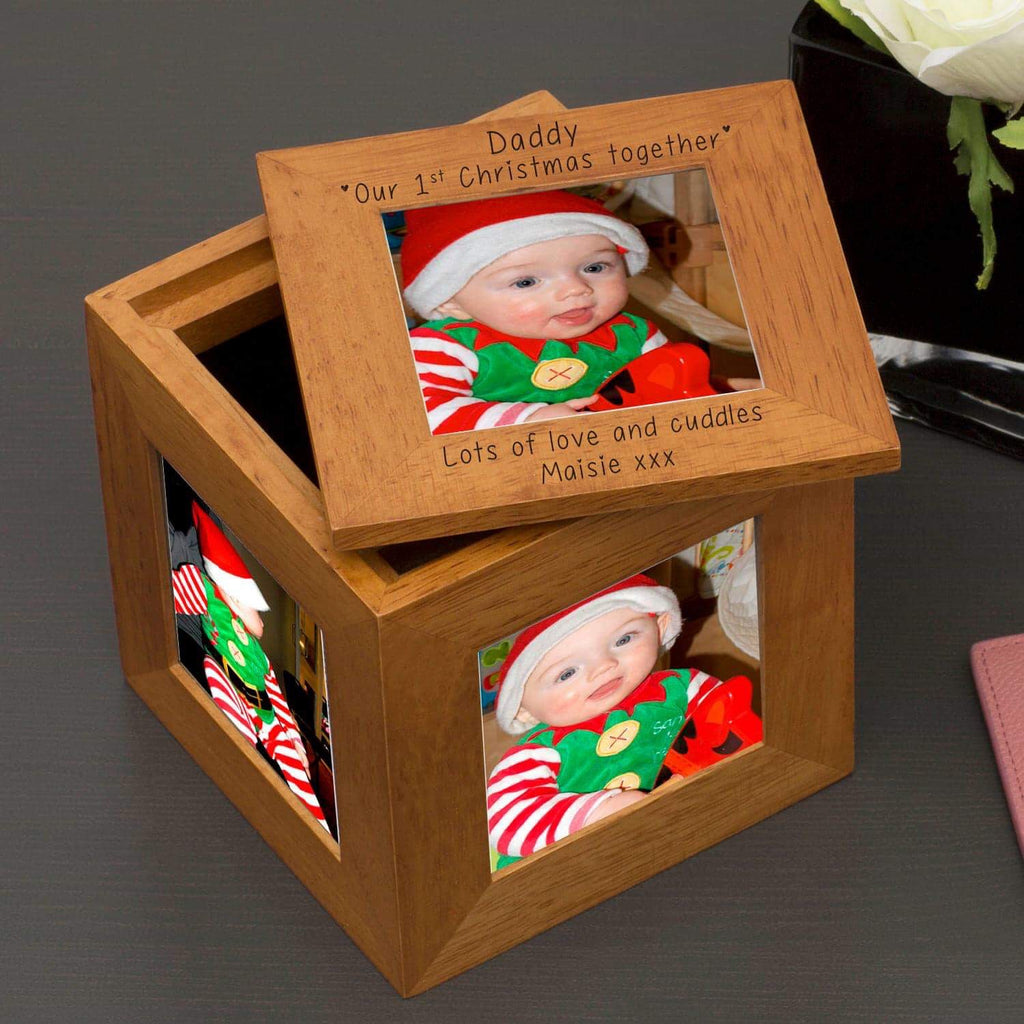 Personalised Daddy Our 1st Christmas Together Photo Frame Box from Pukkagifts.uk