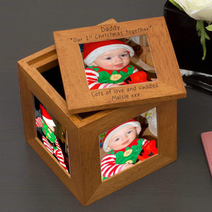 Personalised Daddy Our 1st Christmas Together Photo Frame Box