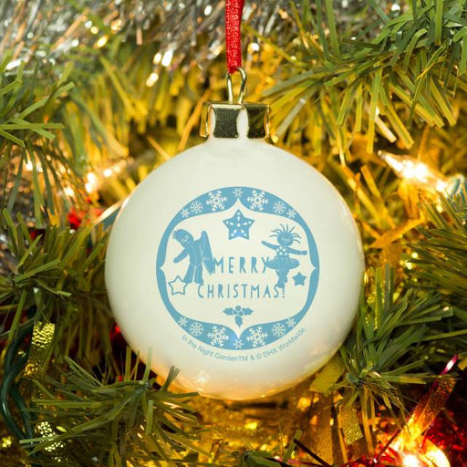 Personalised In The Night Garden Snowtime Christmas Bauble