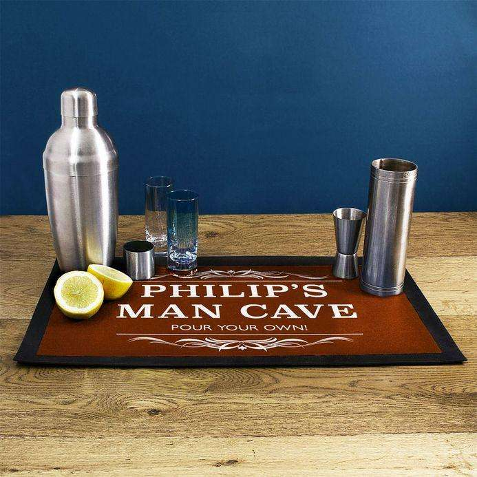 Personalised Gentlemen's Man Cave Bar Runner from Pukkagifts.uk