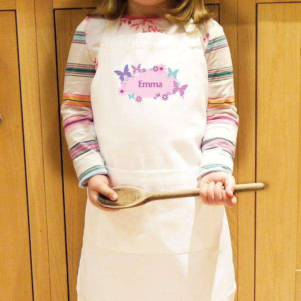Personalised Butterfly Children's Apron from Pukkagifts.uk
