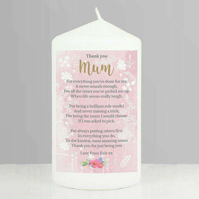 Personalised Floral Watercolour Candle from Pukkagifts.uk