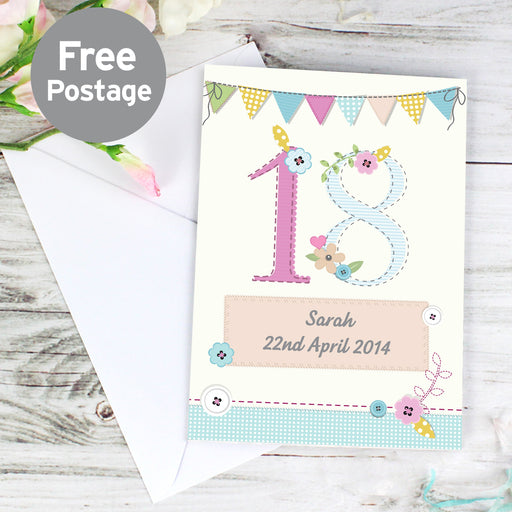 Personalised Age Birthday Craft Card
